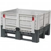 Разборный контейнер модель DFLC 1000,  перфорированный