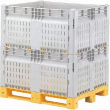 Разборный контейнер КитБин перфорированный увеличенный двойной