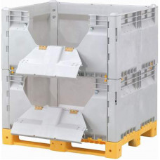 Контейнер разборный модель КитБин сплошной увеличенный двойной с откидными дверцами