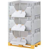 Контейнер разборный модель КитБин сплошной увеличенный тройной с откидными дверцами