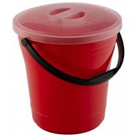 Ведро хозяйственное с ручкой и крышкой 15 литров