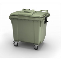 Контейнер для мусора на 1100 л, на 4-х колёсах с крышкой. Арт. MGBT-1100
