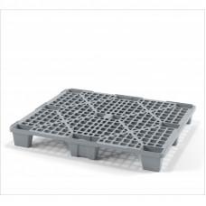 Легкий  вкладываемый перфорированный пластиковый поддон на ножках 1200х1000
