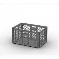 Пластиковый ящик ECP-6432 серый перфорированный