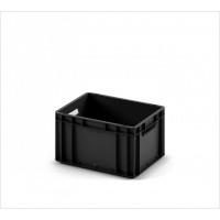 Пластиковый ящик 400x300x220 EC-4322 ESD черный с усиленным дном