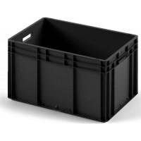 Пластиковый ящик ЕС-6432 черный с гладким дном