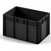 Пластиковый ящик ЕС-6432 черный с усиленным дном