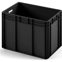 Пластиковый ящик ЕС-6442 черный с усиленным дном