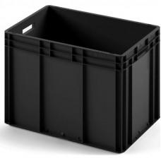 Пластиковый ящик ЕС-6442 черный с гладким дном