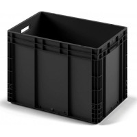 Пластиковый ящик 600x400x420 ЕС-6442 ESD черный с усиленным дном