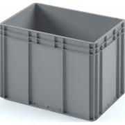 Пластиковый ящик ЕС-6442 серый с гладким дном
