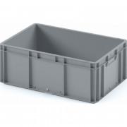 Пластиковый ящик ЕС-6422 серый с гладким дном