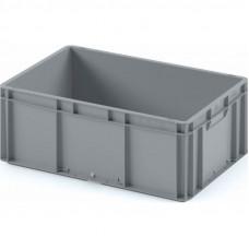 Пластиковый ящик ЕС-6422 серый с усиленным дном