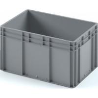 Пластиковый ящик ЕС-6432 серый с усиленным дном