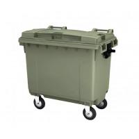 Мусорный контейнер на 660 л. на 4-х колесах, с крышкой. Арт. MGBТ - 660