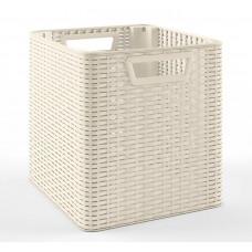 Корзина пластиковая плетением «ротанг» Кр-002-Б