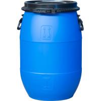 Бочка пластиковая 65 литров крышка на пластиковом /металлическом обруче