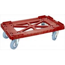Тележка для пластиковых ящиков Арт. 508-2 серые резиновые колёса